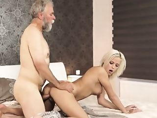 blonde Old english man Surprise your gf and she will pulverize with doggystyle hd