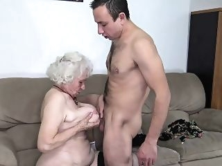 blonde hairy old mom deep banged blowjob granny